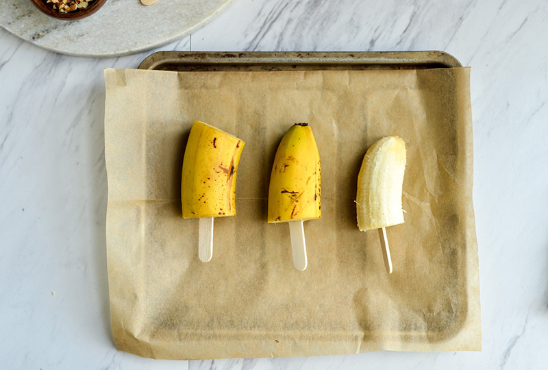 Banana chunks on sticks