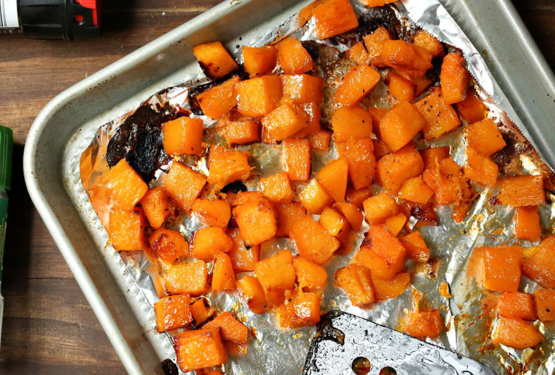 Roasted diced butternut squash