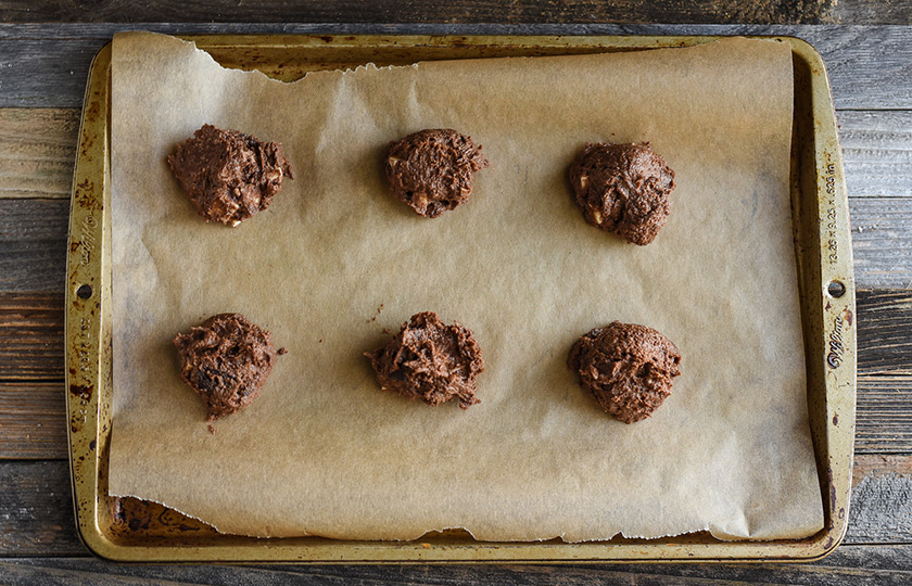 Raw cookies ready to go in oven.