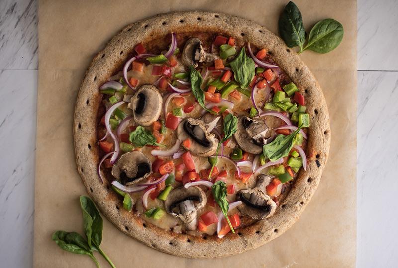 Homemade vegetable pizza