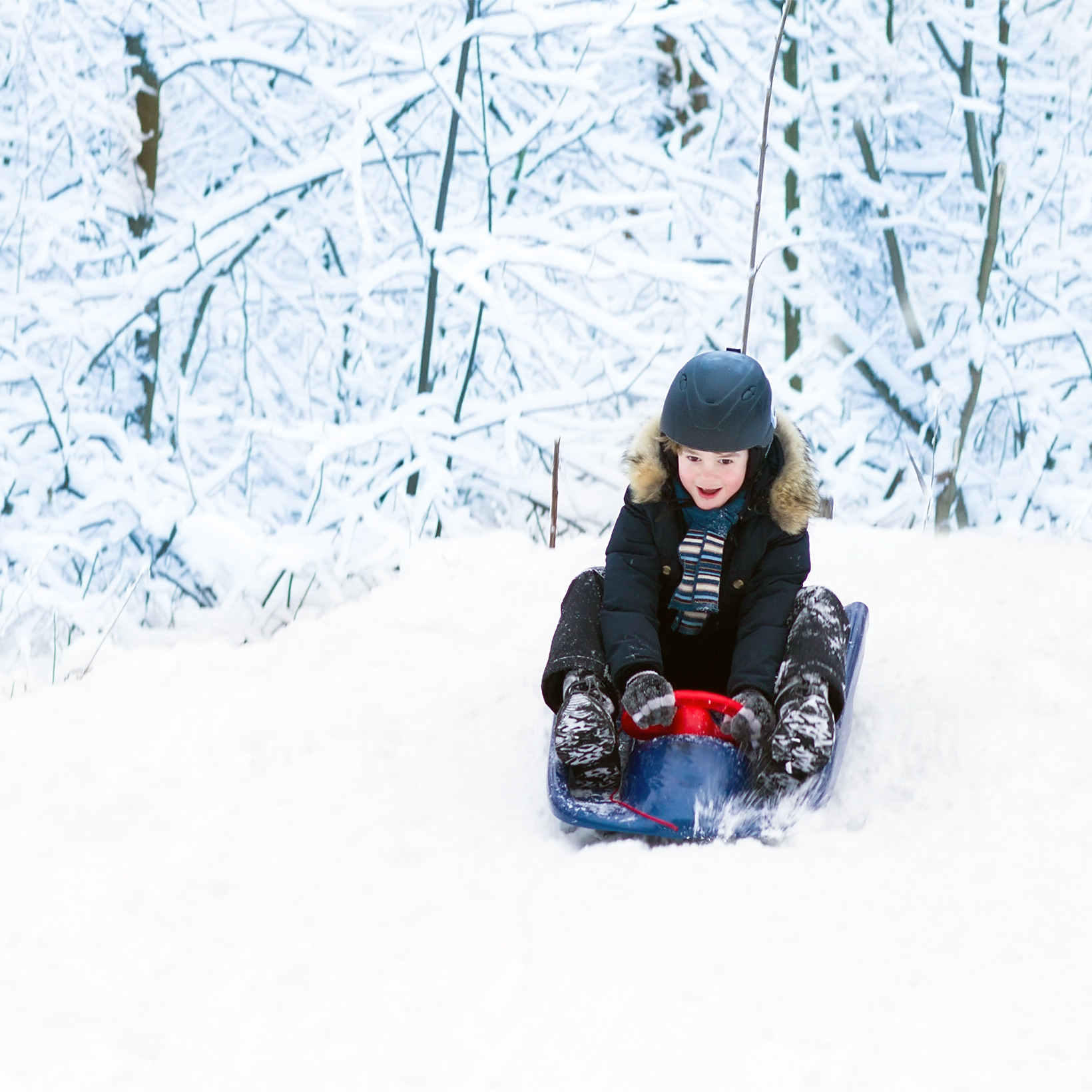 how to keep sledding safe