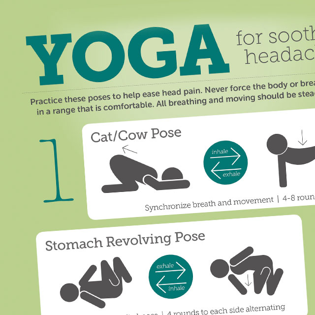reduce headache pain with yoga