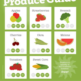 spring and summer produce infographic