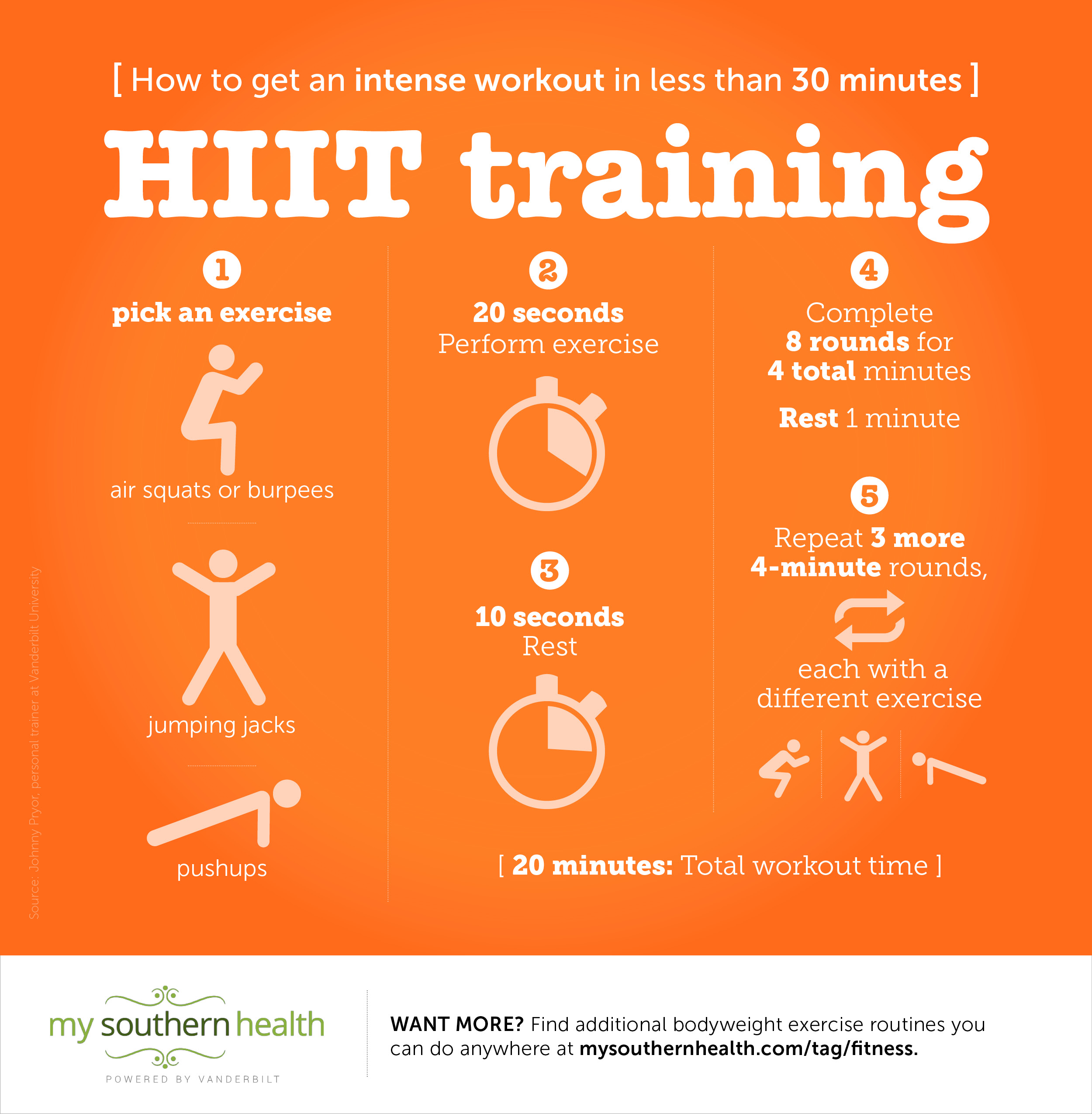 HIIT training tips for a 30 minute workout