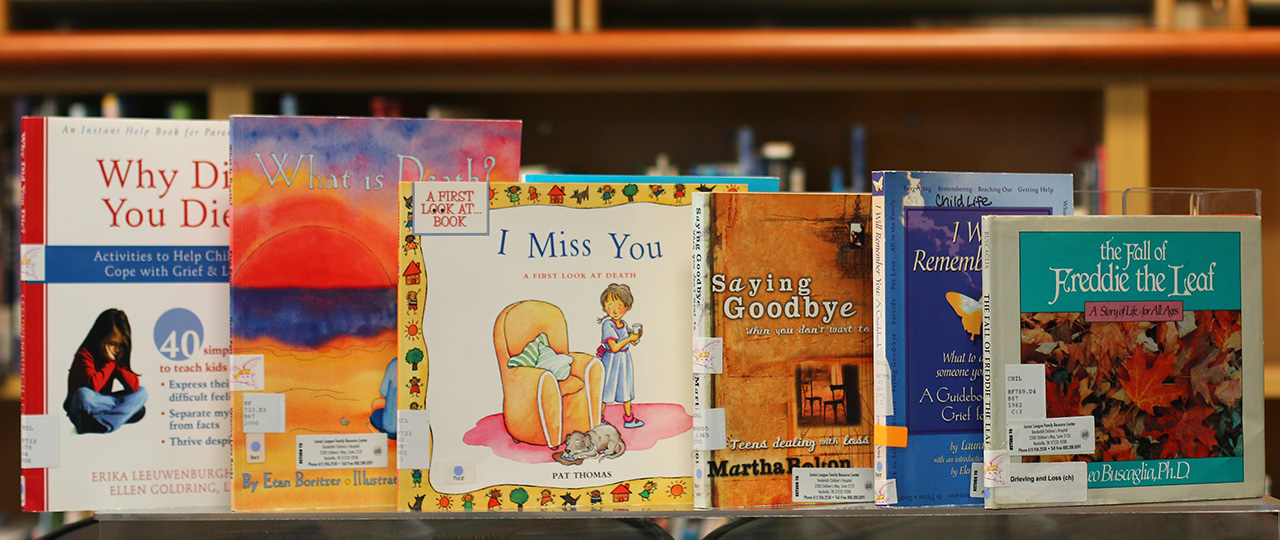 Bereavement books for any age child