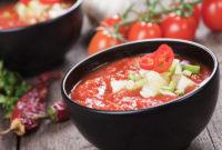 Bowl of gazpacho soup