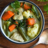 easy thai chicken soup coconut milk