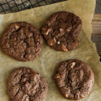 chewy triple chocolate cookie recipe
