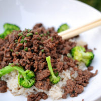 Beef, Broccoli and Brown Gravy With Rice