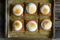 Graham crackers and marshmallows, broiled and just out of the oven