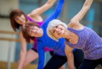 Women working out and staying healthy for fitness over 50.