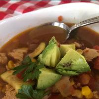 Zucchini and corn chicken soup recipe.